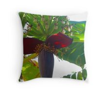 The complete banana plant - art made by the nature Throw Pillow