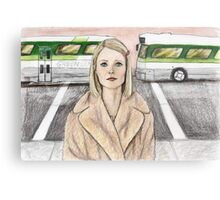 by way of the green line bus Metal Print