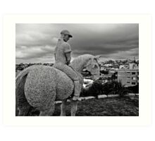 Lone Rider Art Print