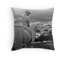 Lone Rider Throw Pillow