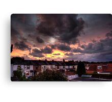 Whiston Sunset Canvas Print