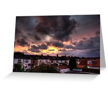 Whiston Sunset Greeting Card