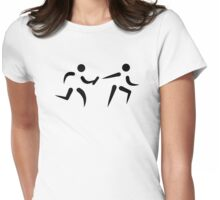 Relay race Womens Fitted T-Shirt