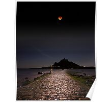 Super Blood Moon - St Michael's Mount Poster