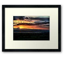 Sunset over Severn Framed Print