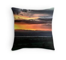 Sunset over Severn Throw Pillow