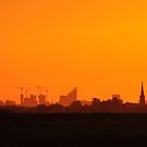 The Hague sunset skyline by Javimage