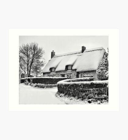 Winter Cottage Art Print