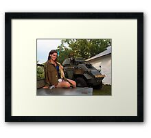 Michelle and the Humber Framed Print