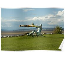 Venus and Cupid Sculpture - Morecambe Bay Poster