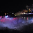 Niagara Falls at night by Jill Vadala