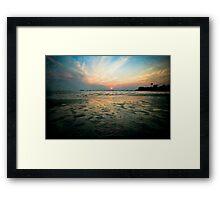 Low Tide Sunset Framed Print