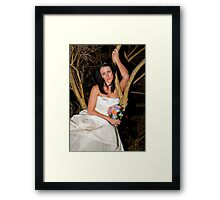 Bride with Flowers Framed Print