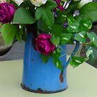 Blue vase by Sue Payne