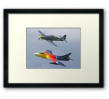 """Miss Demeanour"" Hunter - Sea Fury T20 Framed Print"