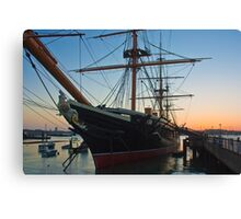 Sunset Behind HMS Warrior Canvas Print