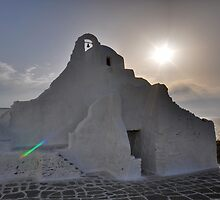 The Church of Panagia Paraportiani by Peter Hammer