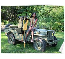 Violet on a Jeep, Tuskegee Airman Poster