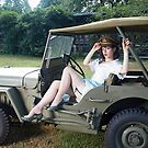Tesla Tease in a WWII Willys MB by LibertyCalendar