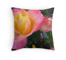 Pink And Yellow Beauty Throw Pillow