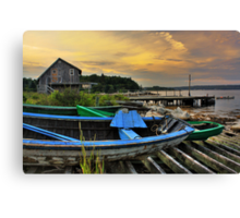 Fox Point at Sunset Canvas Print