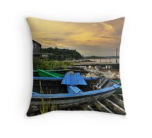 Fox Point at Sunset Throw Pillow