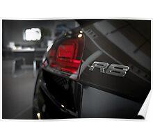 Audi R8 Model Badge Poster