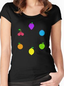 Rainbow Fruit Women's Fitted Scoop T-Shirt