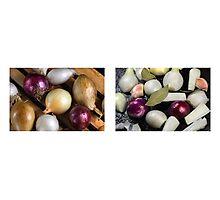 Onions Meet & Eat Photographic Print