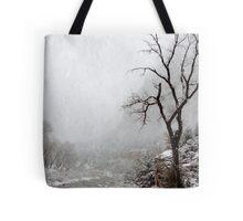 Zion Snowstorm Tote Bag