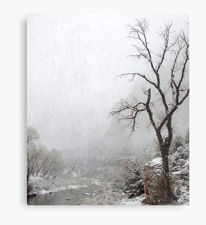 Zion Snowstorm Metal Print