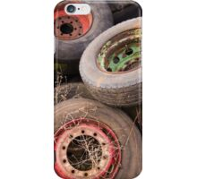 Old Tyres & Wheels iPhone Case/Skin