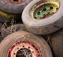 Old Tyres & Wheels by Christopher Cullen