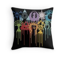 Magic the Gathering: Graphic Guilds Throw Pillow