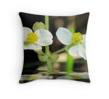 Swamp Flower Throw Pillow
