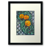 Peaches and Cherries Framed Print