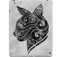 Swirly Cat Portrait iPad Case/Skin