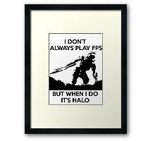 Halo Meme Framed Print