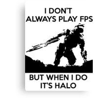 Halo Meme Canvas Print