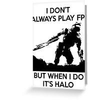 Halo Meme Greeting Card