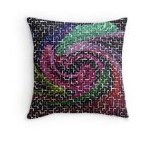 puzzled by your commotion Throw Pillow