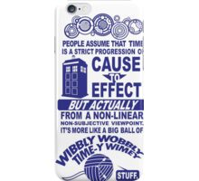 Doctor who who time couse to effect popular  iPhone Case/Skin
