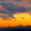 Sunset, New York City  by Alberto  DeJesus