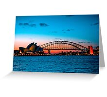 Sydney Harbour at Dusk Greeting Card