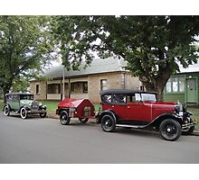 Historic Cars at Fernleigh Photographic Print
