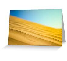 Dune Waves Greeting Card