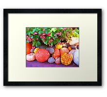 """Pumpkin Patch"" Framed Print"