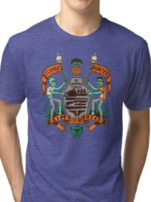 Zombie Hunters Coat of Arms (BROWN) Tri-blend T-Shirt