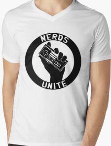 NES NERDS UNITE! Mens V-Neck T-Shirt