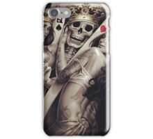 King and queens spades and hearts playing cards cartoon design iPhone Case/Skin
